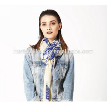 Oversize Wide Shawl Table Printed Wool Modal Scarf
