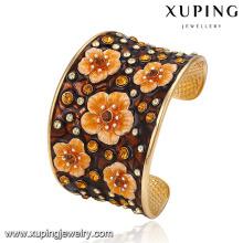 bangle-218 Xuping moda casamento indiano banhado a ouro grandes pulseiras pulseiras