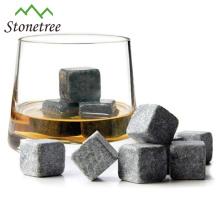 Accessoires de bar Pierre de lave recyclable Whiskey Pierres / Cube de refroidisseur à bière / Pierre pour refroidisseur de vin