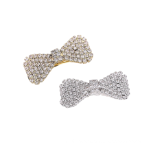 Hair Barrettes Fashion Accessories Hairpin Korean Ponytail Clip Exquisite Spring Clip Knot Rhinestone New Lady Bow Belle Femme