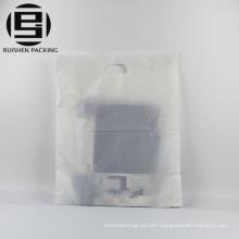 Plain clear patch handle carrier plastic bags