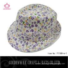 Sombrero atractivo de las muchachas del sombrero barato de Fedora Hat