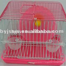 Cage enduite de hamster de treillis métallique de PVC