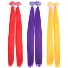 Keratin Hair Extension 18 Inch Brazilian Virgin Silky Straight Colorful Flat Tip Hair Extension