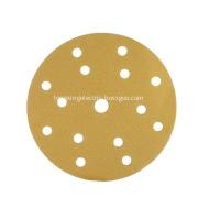 Dustless yellow hook and loop grinding disc