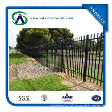 Schmiedeeisen-Zaun / Stahlrohrzaun / Gartenzaun zum Verkauf