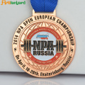 Soft Enamel Metal Medal With Lanyard