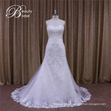 Véritable échantillon de robe de mariée sirène