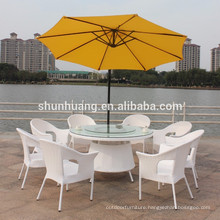 hot sale PE rattan furniture garden outdoor wicker chair and table