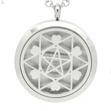 Le dernier médaillon flottant creux en forme d'étoile, conceptions de collier de médaillon d'huile essentielle