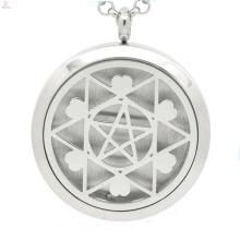 Mais recente estrela em forma de medalhão flutuante oco, desenhos de colar de medalhão de óleo essencial