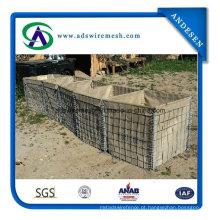 Areia resistente enchendo a barreira de Hesco