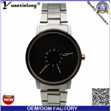 Yxl-359 Super Quality Luxury Paidu Brand Stainless Steel Watch Black Dial Simple Design Sport Mens Watches