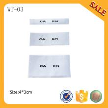 WT-03 2016 insignia tejida logotipo de encargo barato de la etiqueta del brazo / etiqueta del cuello del cuello