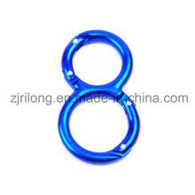 Алюминий 8 формующих карабинов пружинный защелкивающийся двойной крюк
