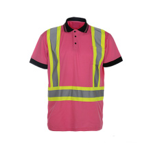 Reflective Polo Shirt High Visibility 100% Polyester Safety Traffic Clothing
