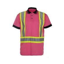 T-shirt de segurança reflexiva de alta visibilidade de classe 2 com 100% de malha de Birdeye de poliéster