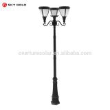 Reasonable price double lamp head Classic Euro style solar lamp post solar column light solar post light