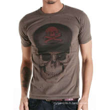 Cool Skull Screen Printing mode personnalisé coton gros hommes T Shirt