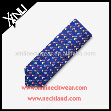 100% Handmade Perfect Knot Silk Printed Musical Note Tie