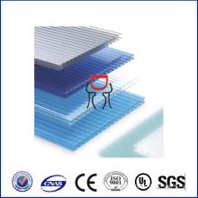 5mm Doppelwand Polycarbonat Hohlblatt, Polycarbonat Blatt Material