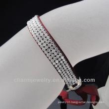 2014 Fashion vintage hollywood bracelet ribbon wholesale crystal bracelet