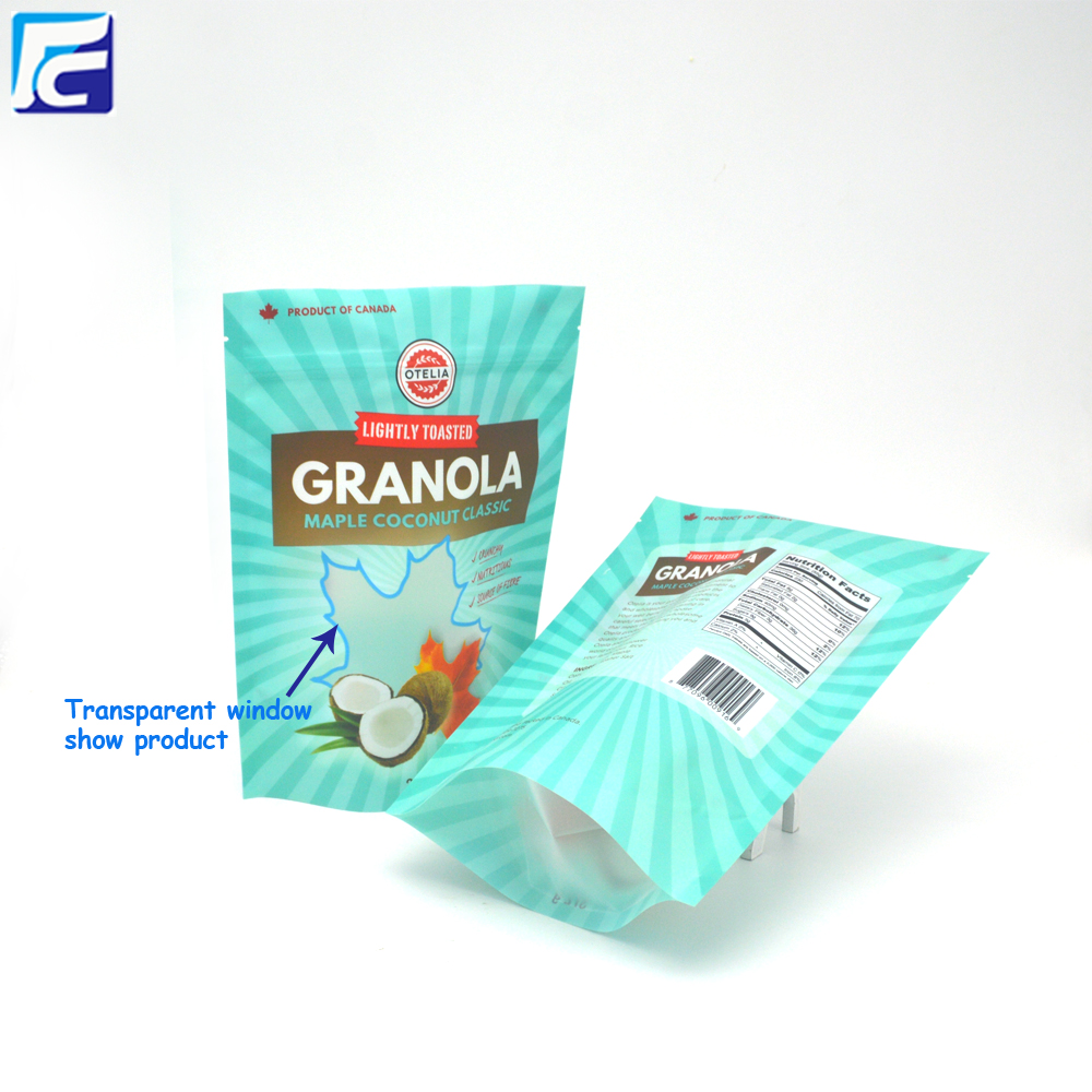 Resealable Ziplock Granola Packaging Bag
