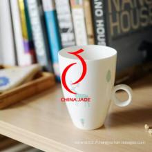 Tasse et soucoupe en céramique personnalisée peinte à la main de haute qualité pour la vente en gros