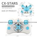 CHEERSON CX-Stars CXStars Quadcopter 2.4G RC 4CH 6-axis Micro 3CM Rc Mini Drone Con luces LED RTF SJY-CX-STARS