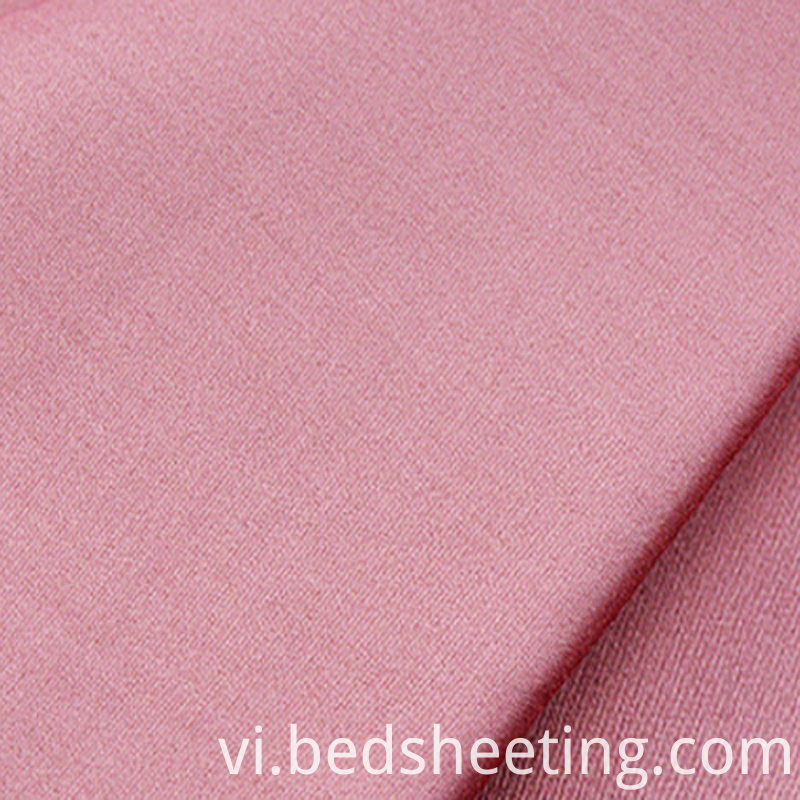300t Cotton Sateen Fabric Pink