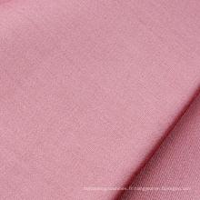 Tissu en satin de coton blanchi et teint, 300T