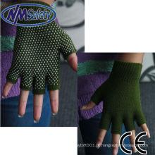 Luvas de algodão NMSAFETY PVC pontilhadas sem dedos