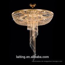 Factory-Outlet-Luxus-Hall Vintage halb bündig montiert Deckenleuchte Kristall Leuchte