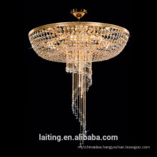 Factory outlet luxury hall vintage half flush mounted ceiling lamp crystal lighting fixture