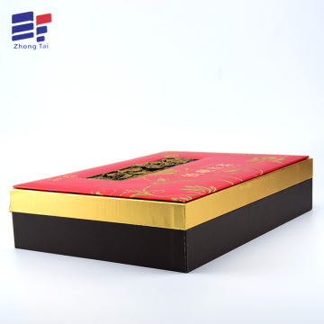 Wooden book shape tea packaging gift box