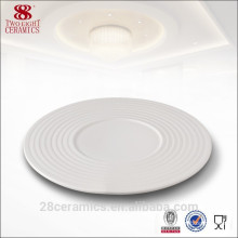 Wholesale wedding crockery items, white porcelain plate