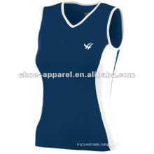 Slim fit sleeveless women tennis shirts 2014
