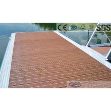 Decking plástico compuesto de madera de 146 * 30m m con SGS, Fsc, certificado del CE