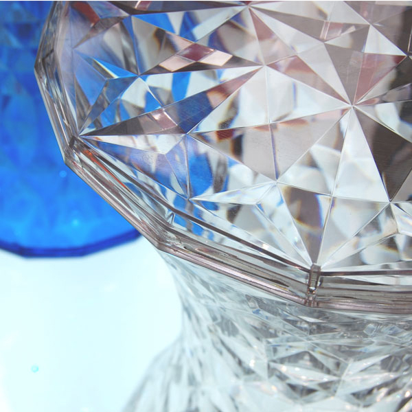 Clear Crystal Diamond Hocker
