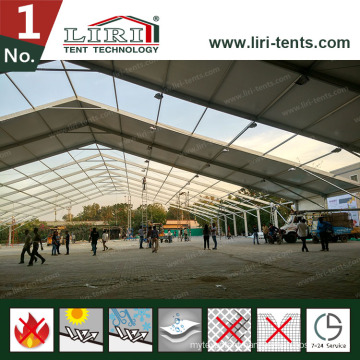 White PVC Roof Covers and White PVC Sidewalls a Frame Tent for Auto Car Exhibition