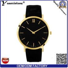 Yxl-292 Promotion Hot Sale Genuine Leather Watch OEM Custom Logo Men Women Watch Businessman Men′s Wrist Watch Stainless Steel Watch