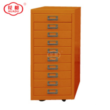 Professional factory modern living room furniture ironing board 10 drawer storage cabinet with wheels