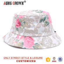 Sombrero personalizado floral del cubo impresiones