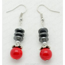 Pendientes de hematita Red Coral Disc Beads