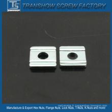 Écrous plats carrés en acier au carbone M3-M30