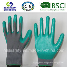 Polyester Shell with Nitrile Coated Work Gloves (SL-N103 ()