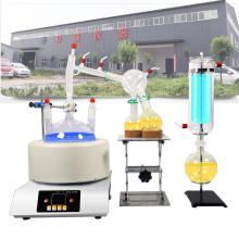 Cristalería de destilación de recorrido corto con manto calefactor
