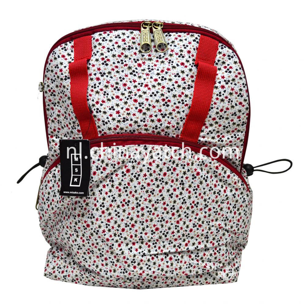 Cotton Fashion Lady Backpack with Multiple Designs