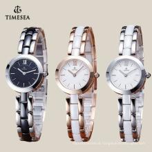 Preço de fábrica japão quartzo relógio de cerâmica com movimento japão 71071