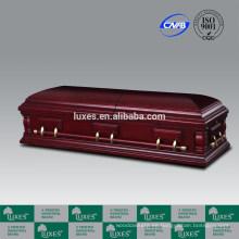 LUXES Metal y la madera del ataúd americano estilo ofrecen de fabricación China